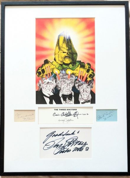 William Hartnell Patrick Troughton Jon Pertwee Autograph Artwork Signed Christos Archilleos